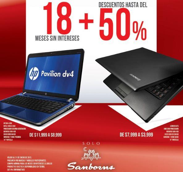 Sanborns: laptop Lenovo con 4GB de RAM a $3,999 y 18 meses sin intereses