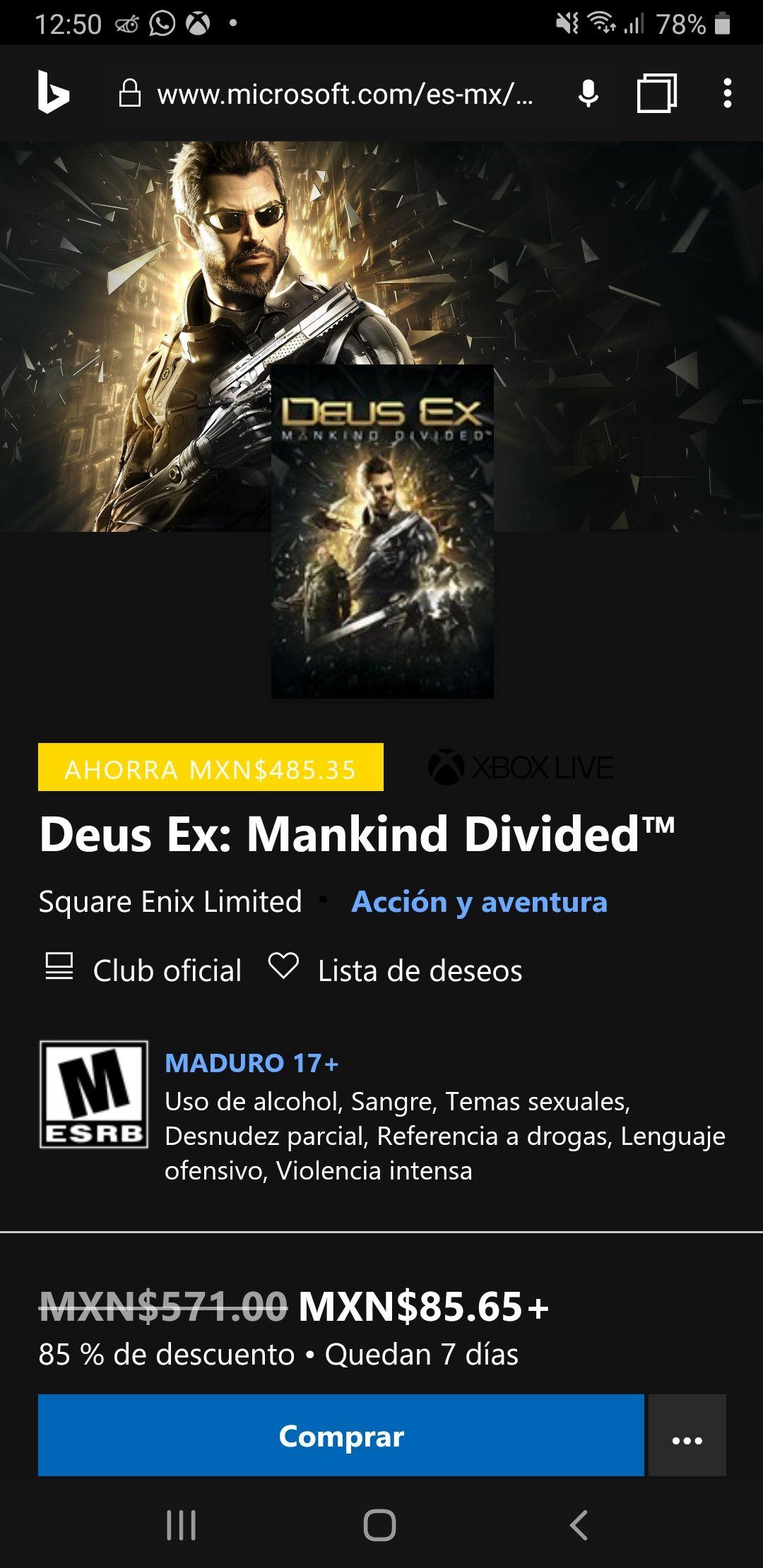Microsoft Store: Deus Ex Mankind Divided