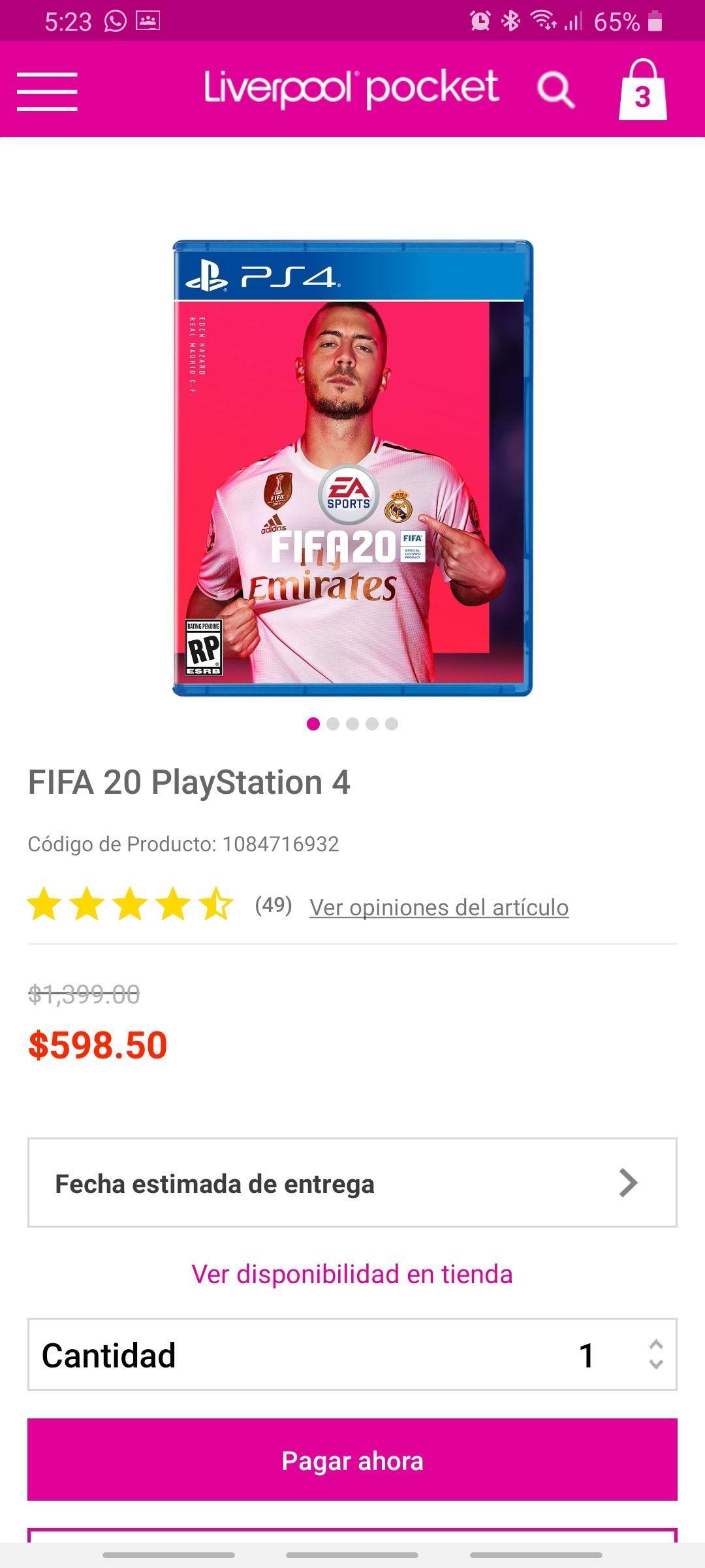 Liverpool: FIFA 20 PS4