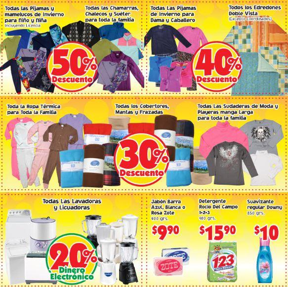 Mercado Soriana: 50% menos en pijamas, chamarras, suéteres, 40% en edredones y +