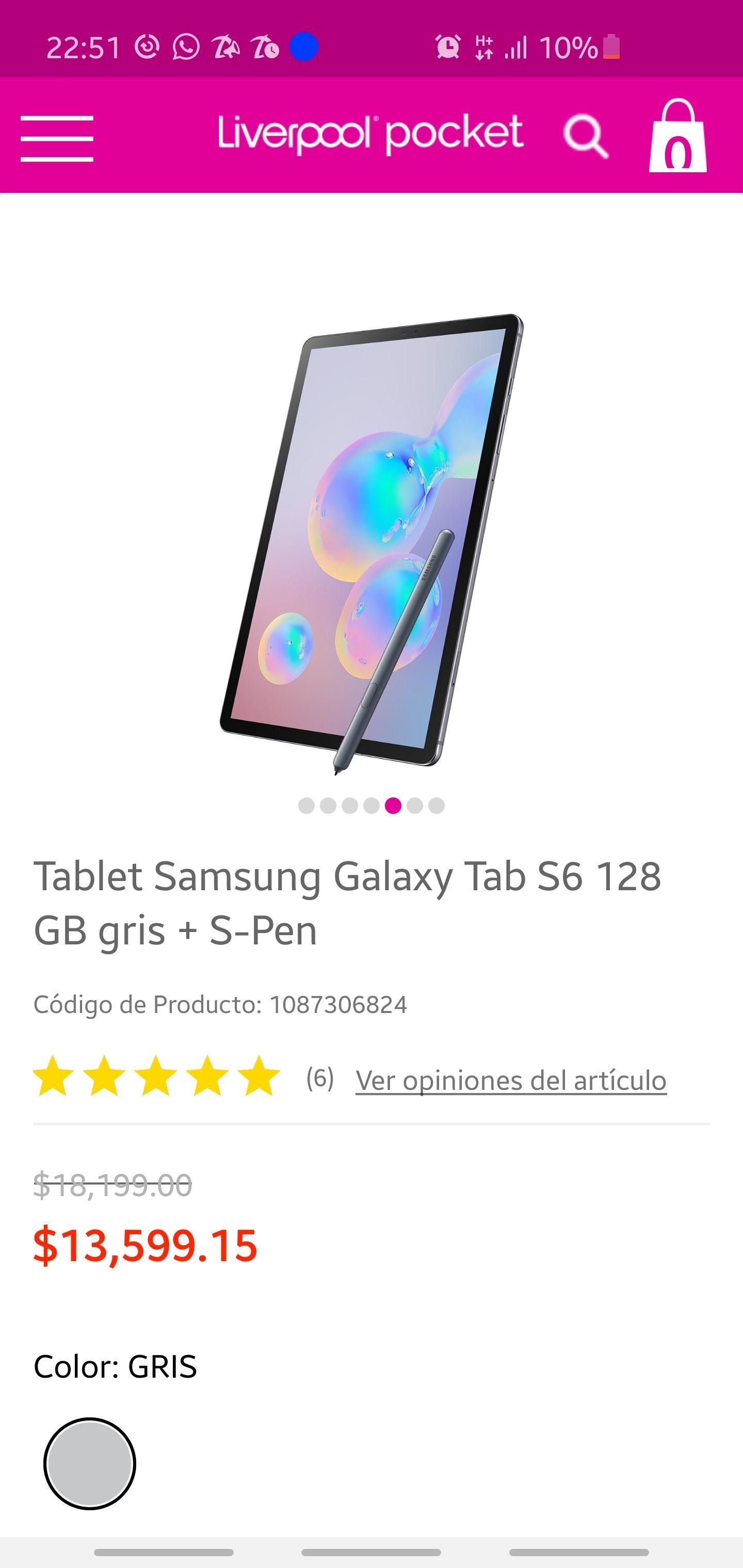 Liverpool: Samsung Galaxy Tab S6
