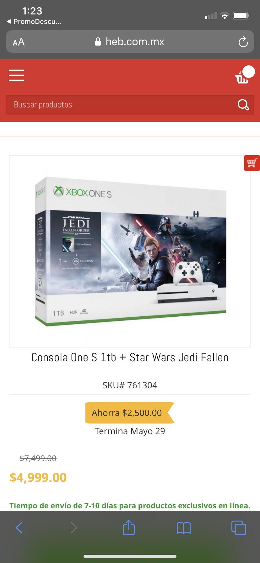 HEB: Xbox one s 1T