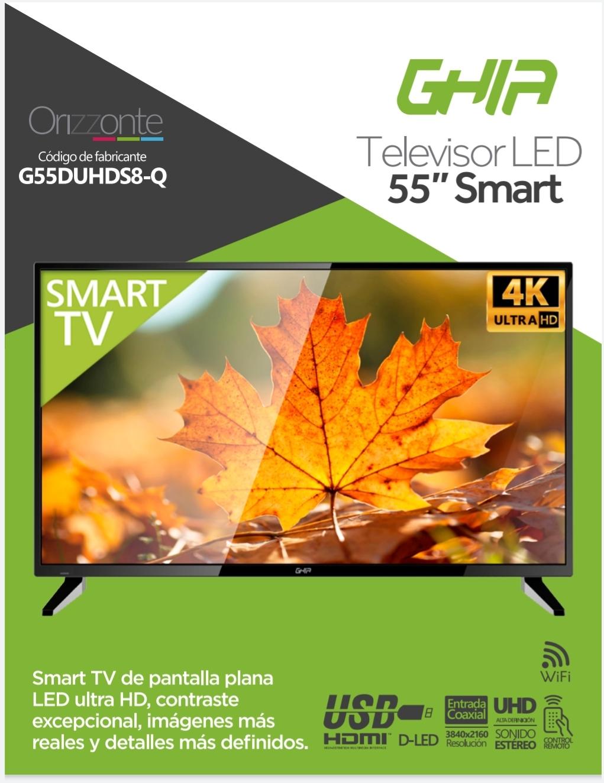 HEB : Pantalla GHIA 55 Pulgadas UHD 4k Android 7.0 Smart tv