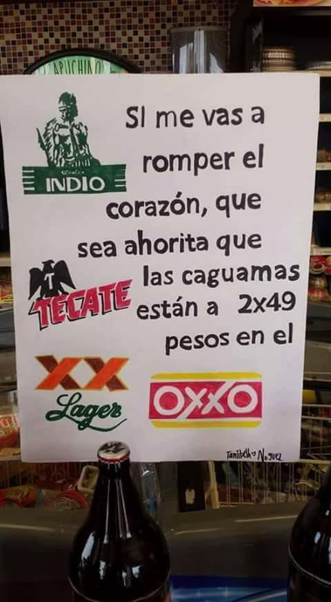 Oxxo Condesa: Caguamas 2 x $49