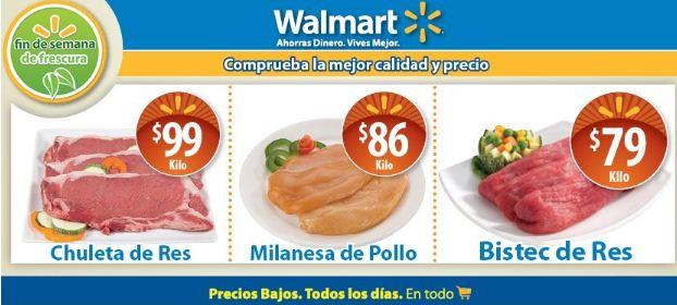Fin de semana de Frescura en Walmart: chuleta de res $99 y más