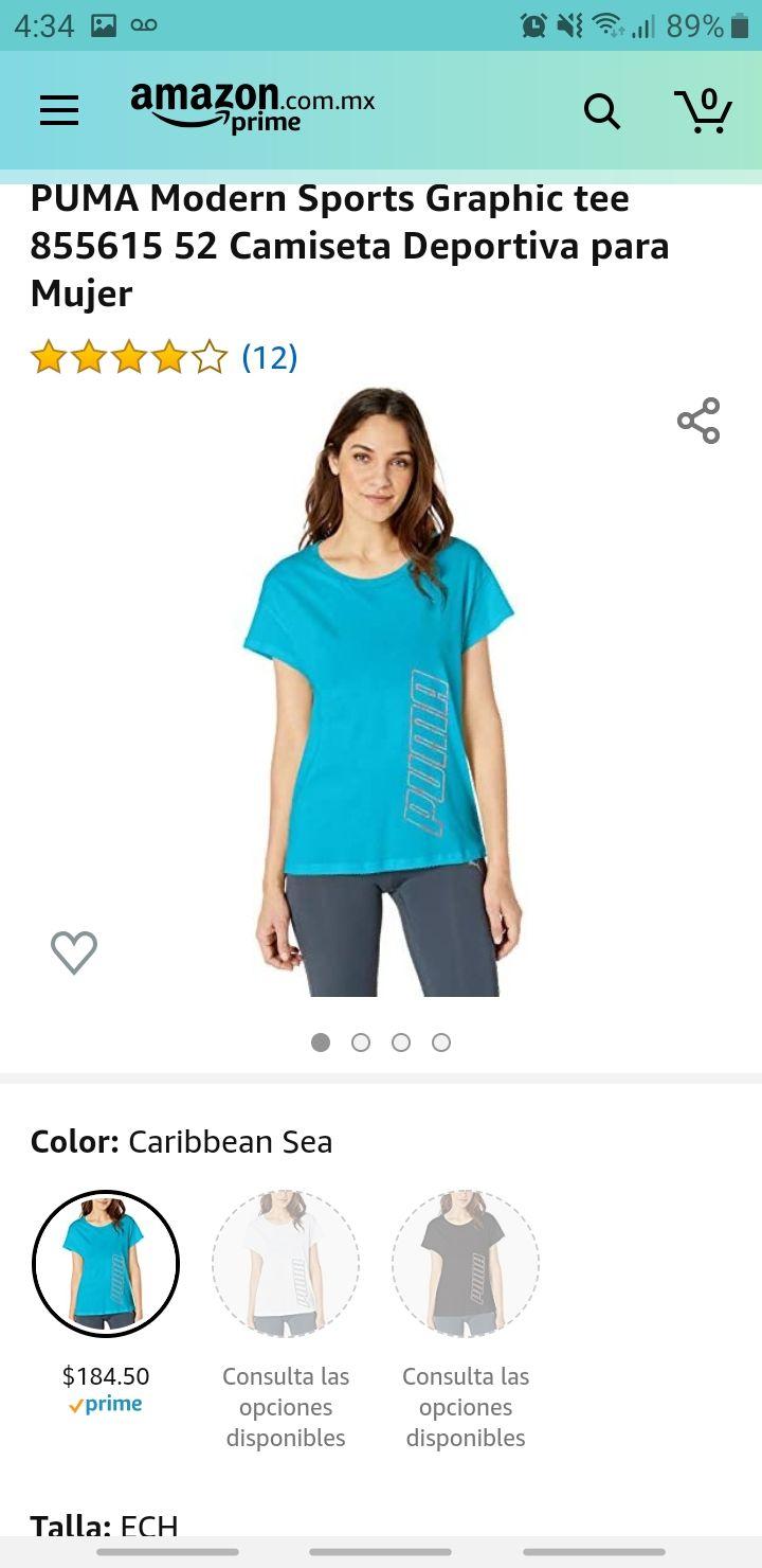 Amazon: Playera Puma para mujer talla ech