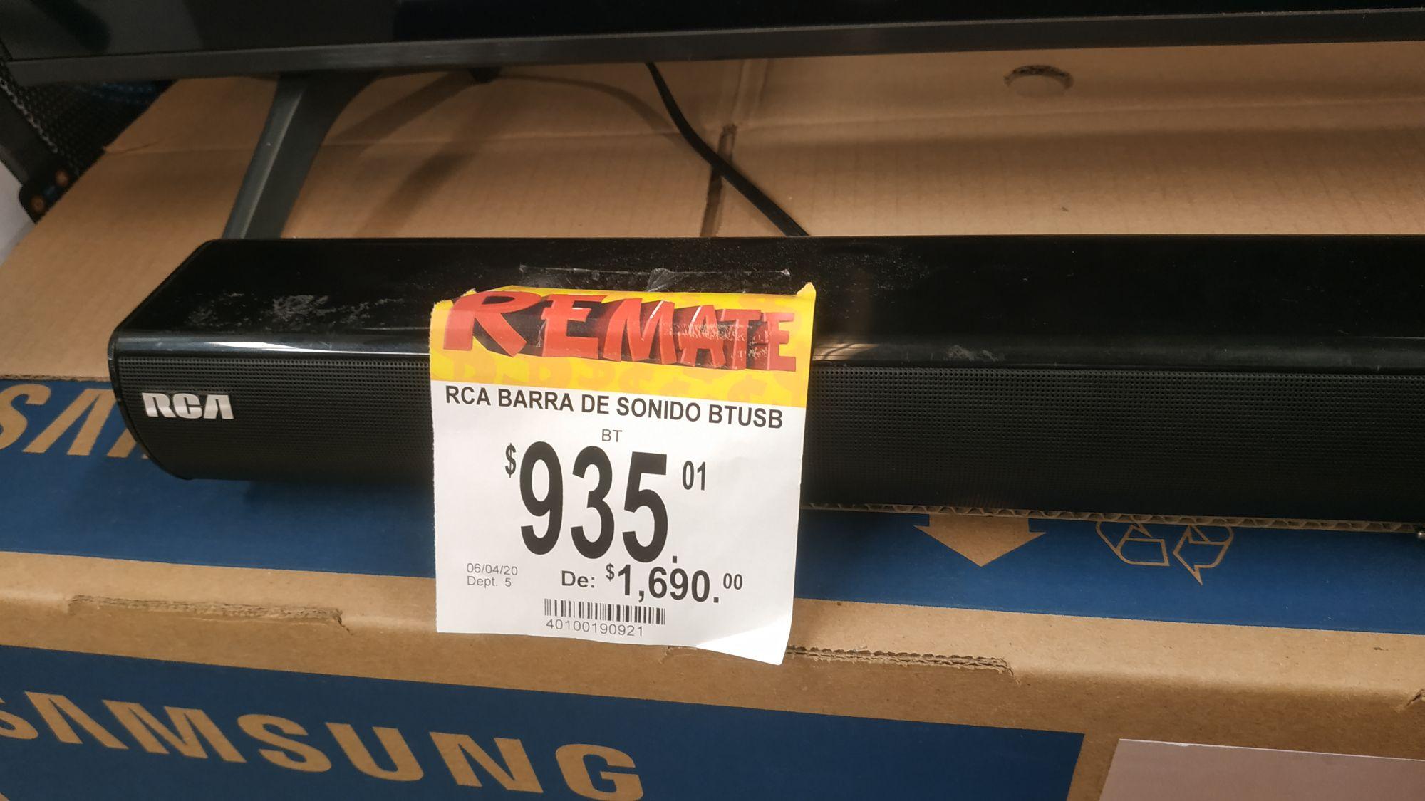 Bodega Aurrera: RCA Barra de sonido BT USB