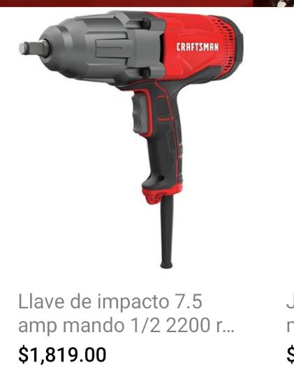 Sears: Pistola de impacto eléctrica Craftsman