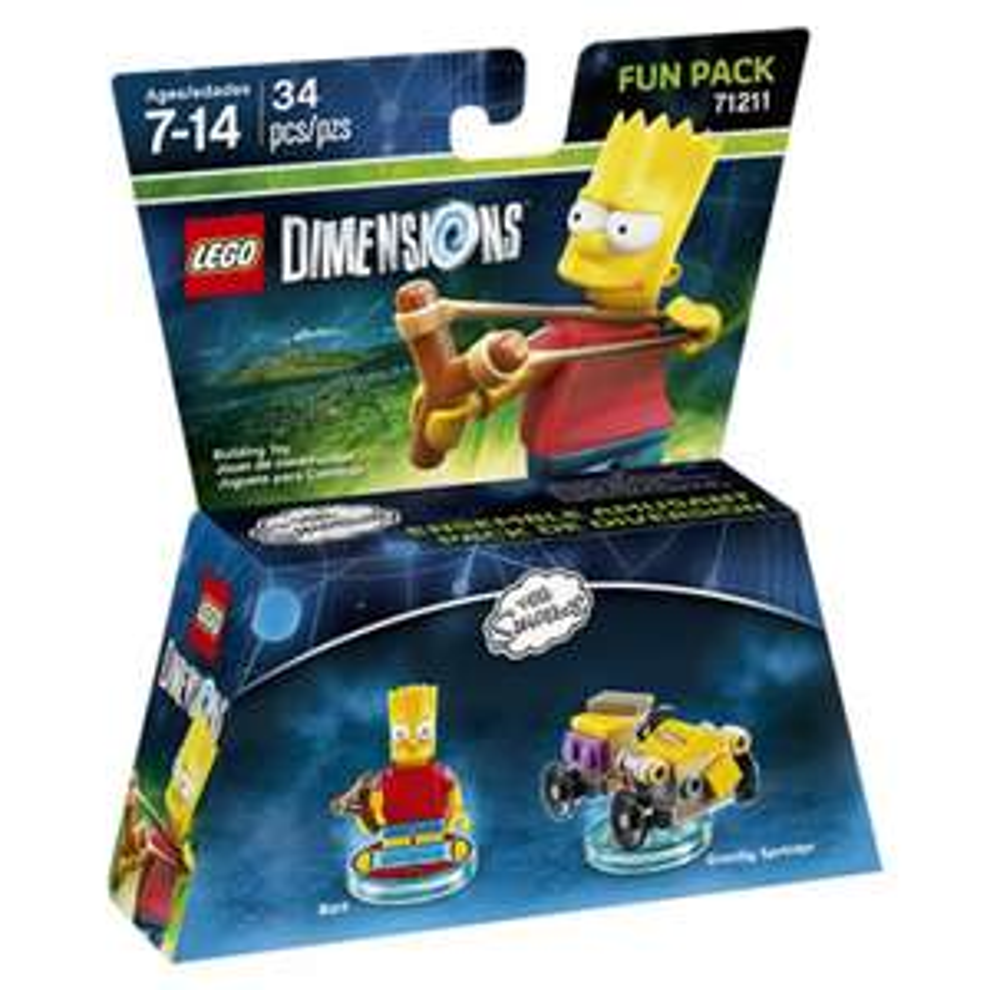 Game Planet en línea: Lego Dimensións Fun Pack Bart Simpson a $99