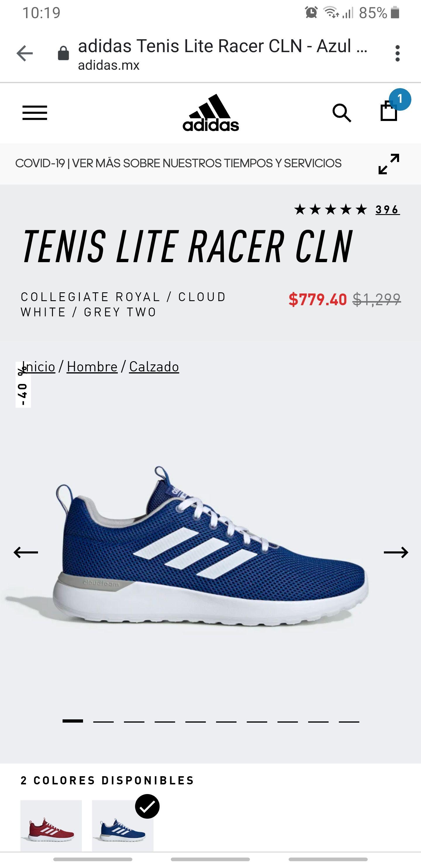 Adidas: Tenis Adidas lite racer cln