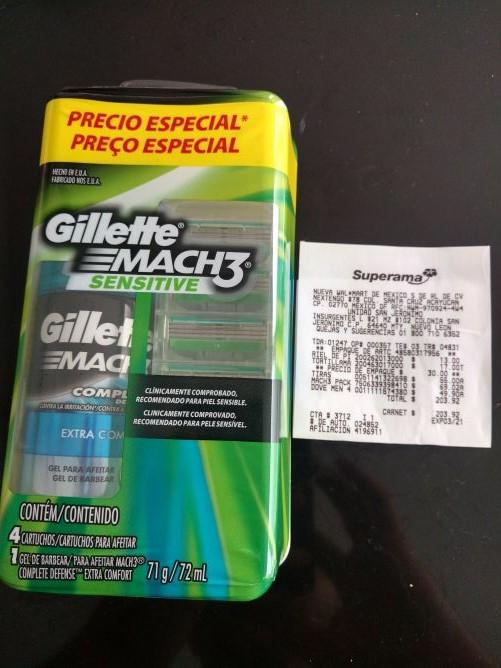 Superama: paquete de 4 cartuchos Gillette Match 3 a $69.02