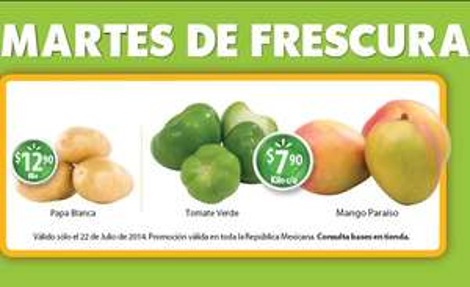 Martes de frescura en Walmart julio 22: mango $7.90 el kilo y más