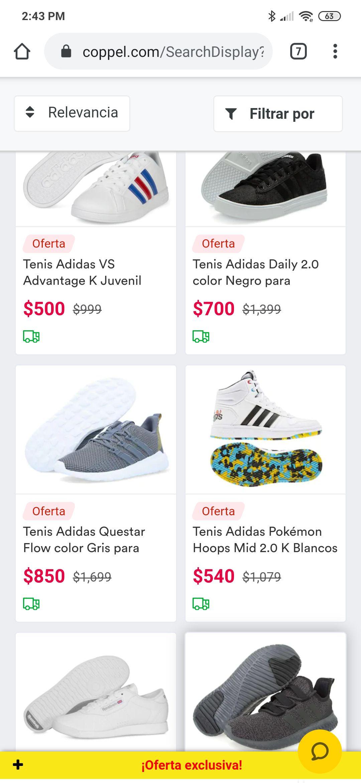 coppel Varios pares Adidas y Reebok al 50%