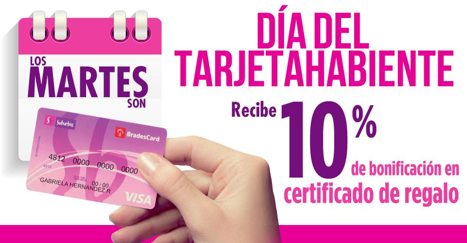 Suburbia: Martes dia del tarjetahabiente