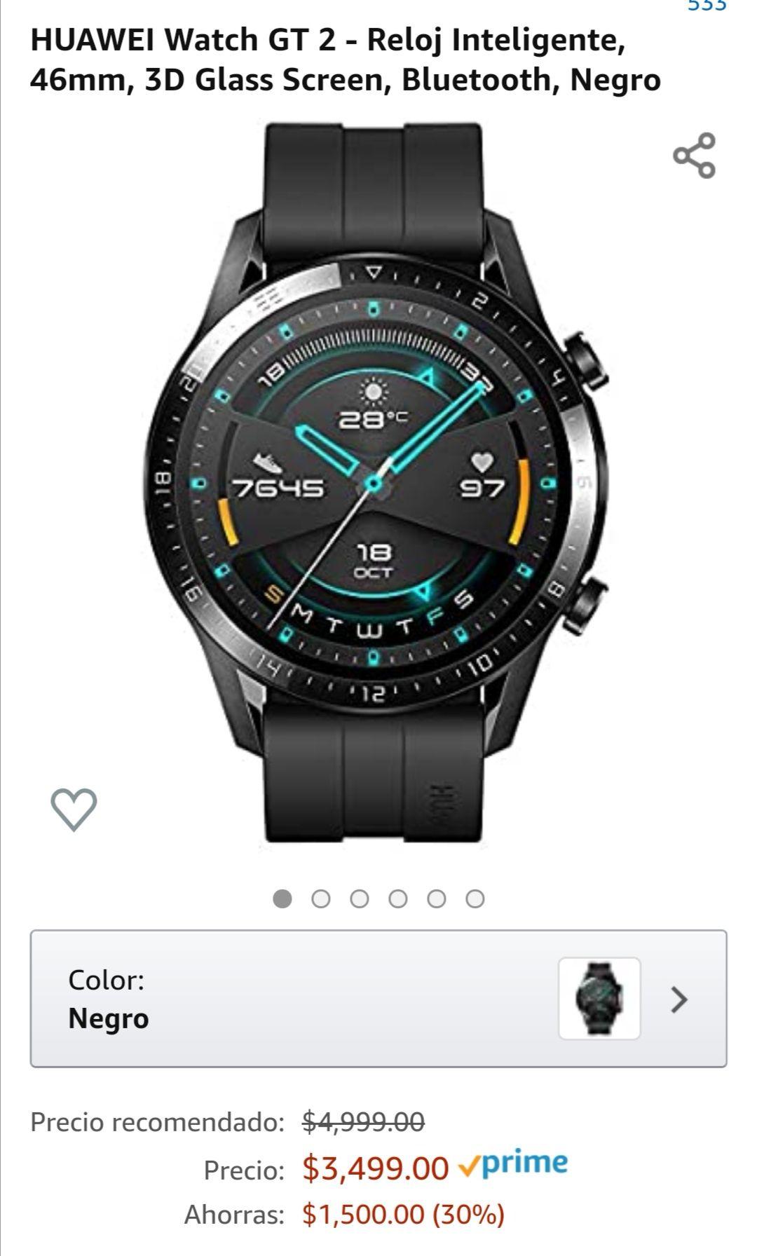 Amazon: Huawei Watch Gt2 46mm