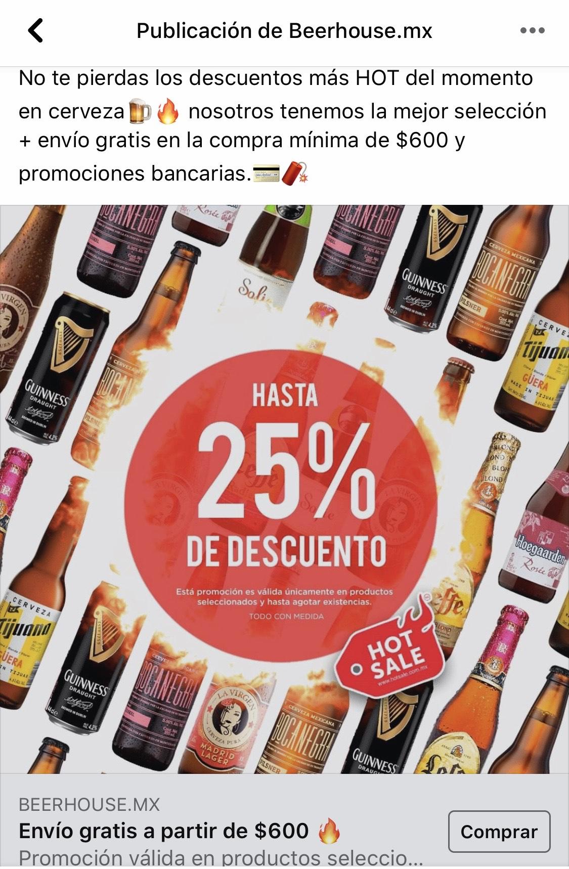 Beerhouse: Hasta 25% de descuento