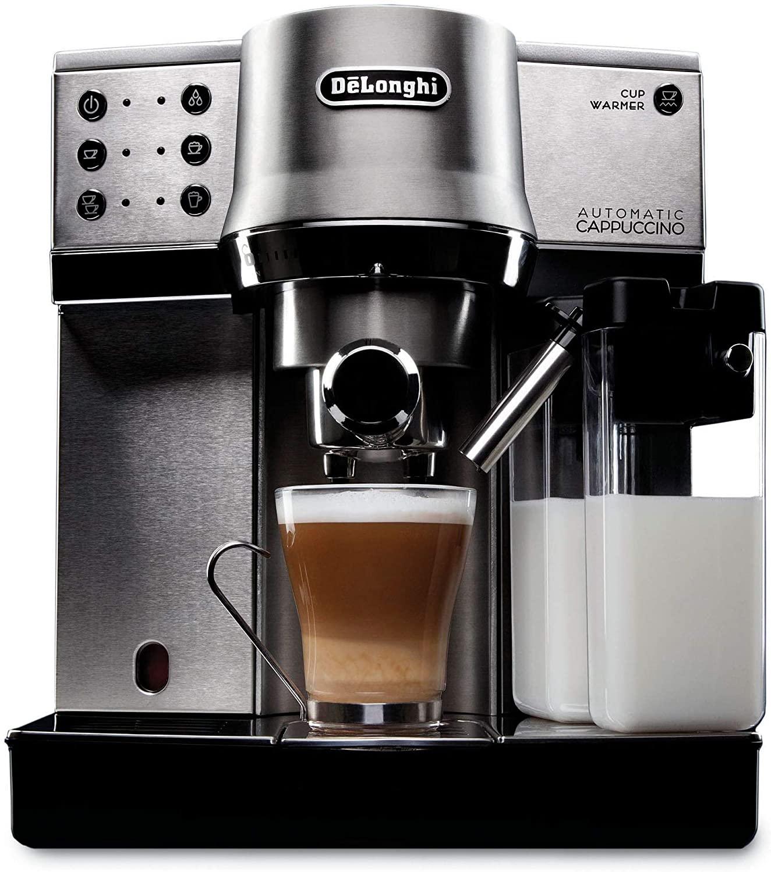 Amazon: Delonghi Dedica EC860 Cafetera espresso, capuccino automatico, acero inoxidable. Con Citibanamex Pay