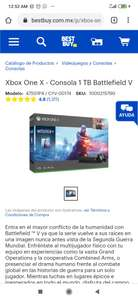 Best Buy: Xbox one X (pagando con Citibanamex)