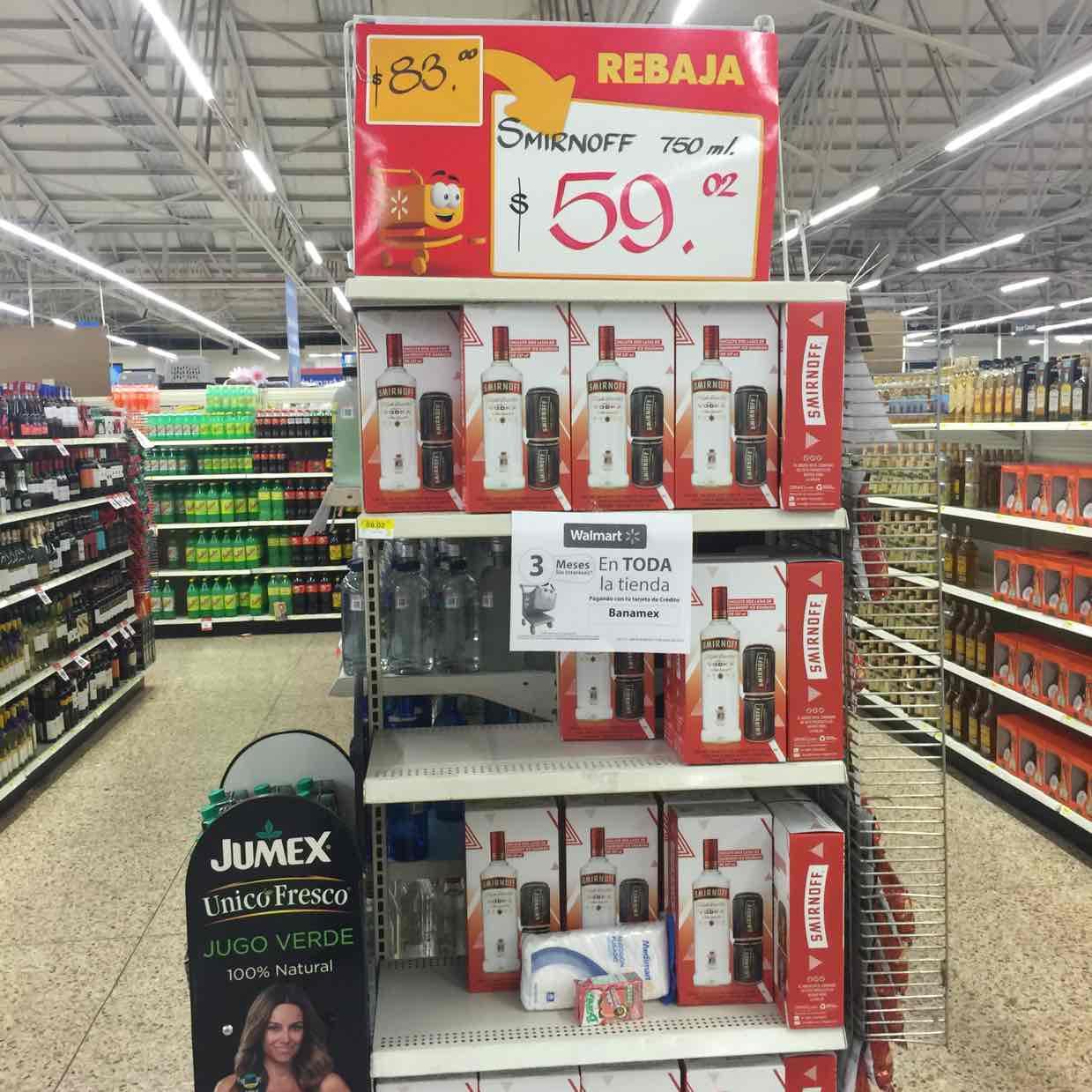 Walmart: Vodka Smirnoff 750 ml + 2 latas de Smirnoff ice guarana