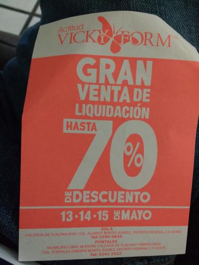 Vicky Form: liquidacion hasta -70%