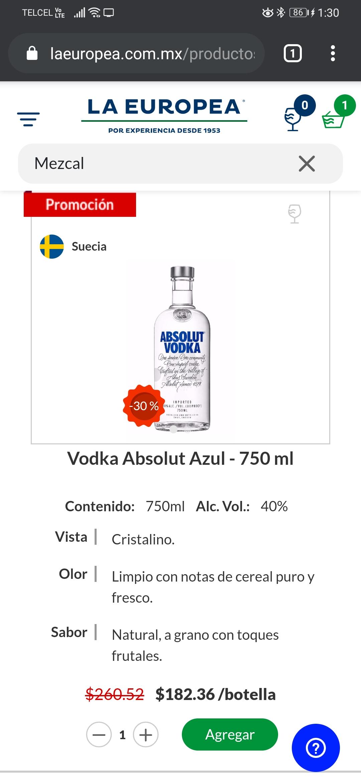 La Europea: Vodka Absolut