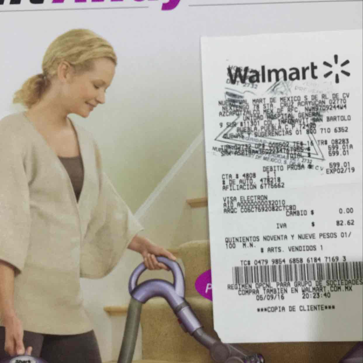 Walmart Puebla: Aspiradora shark lift awayen a $599.01