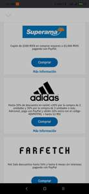 Paypal: 10% adicional en Adidas
