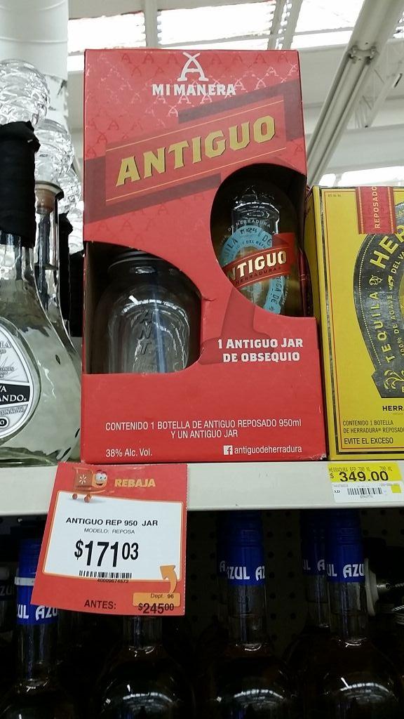 Walmart Reforma Puebla : Tequila antiguo reposado 950 ml a $171.03
