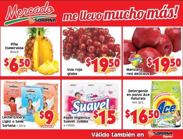 Ofertas de frutas y verduras en Soriana julio 22 y 23