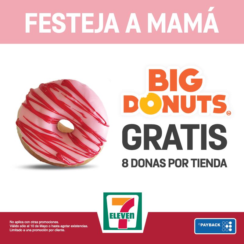 Promoción día de las madres 7 Eleven: dona gratis