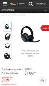 Game Planet: HEADSET PLAYSTATION 4 ASTRO A10 NEGRO Y AZUL
