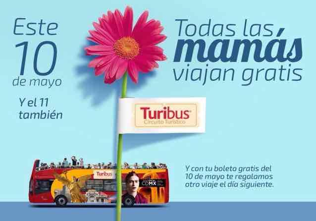Turibús: Viajes GRATIS en Turibús 10 y 11 de mayo.