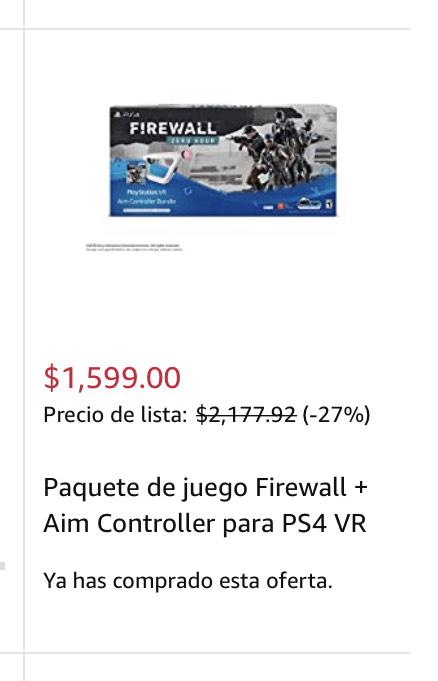 Amazon-Paquete de juego Firewall-Aim Controller PS4