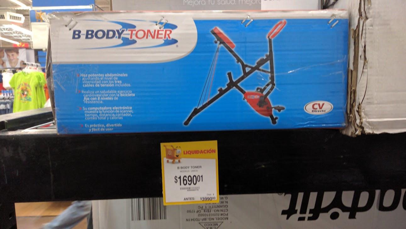 Walmart Colón: BodyToner liquidación de $3,990 a $1,690