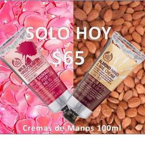 The Body Shop: crema de manos a $65