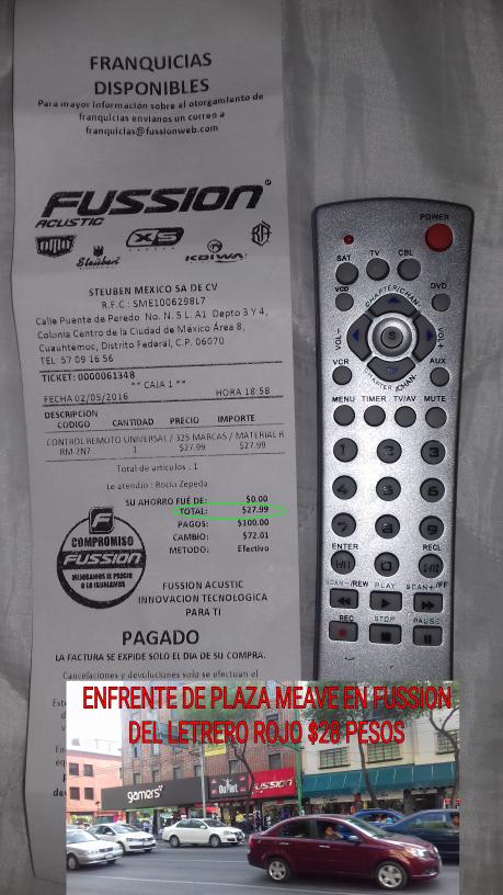 Fussion CDMX: control universal a $28