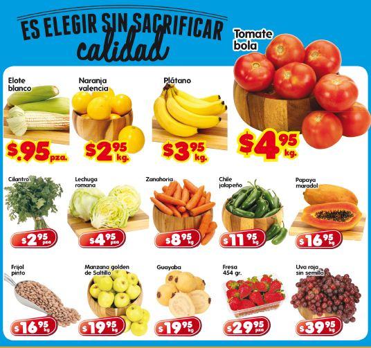 Frutas y verduras en HEB: elote $0.95, tomate bola $4.95 y más