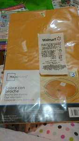 Walmart Copilco: sobres de papel a $3