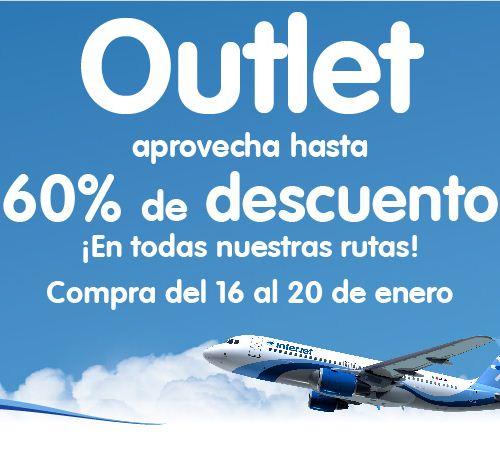 Outlet Interjet del 16 al 20 de enero