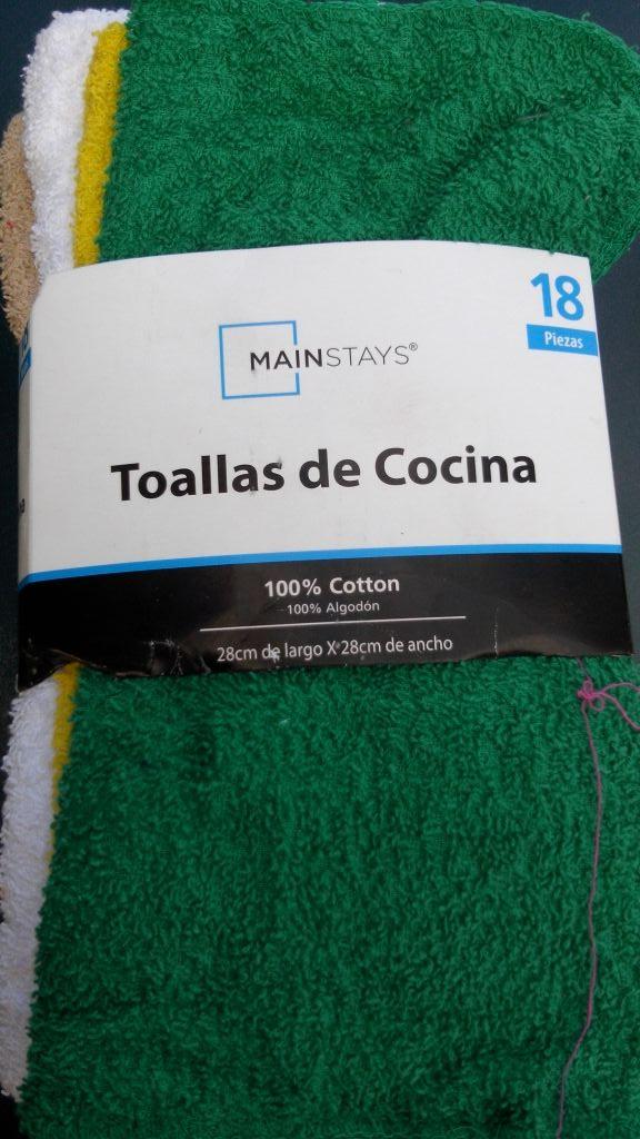 Bodega Aurrerá: paquete 18 toallitas para cocina 100% algodón a $10.01