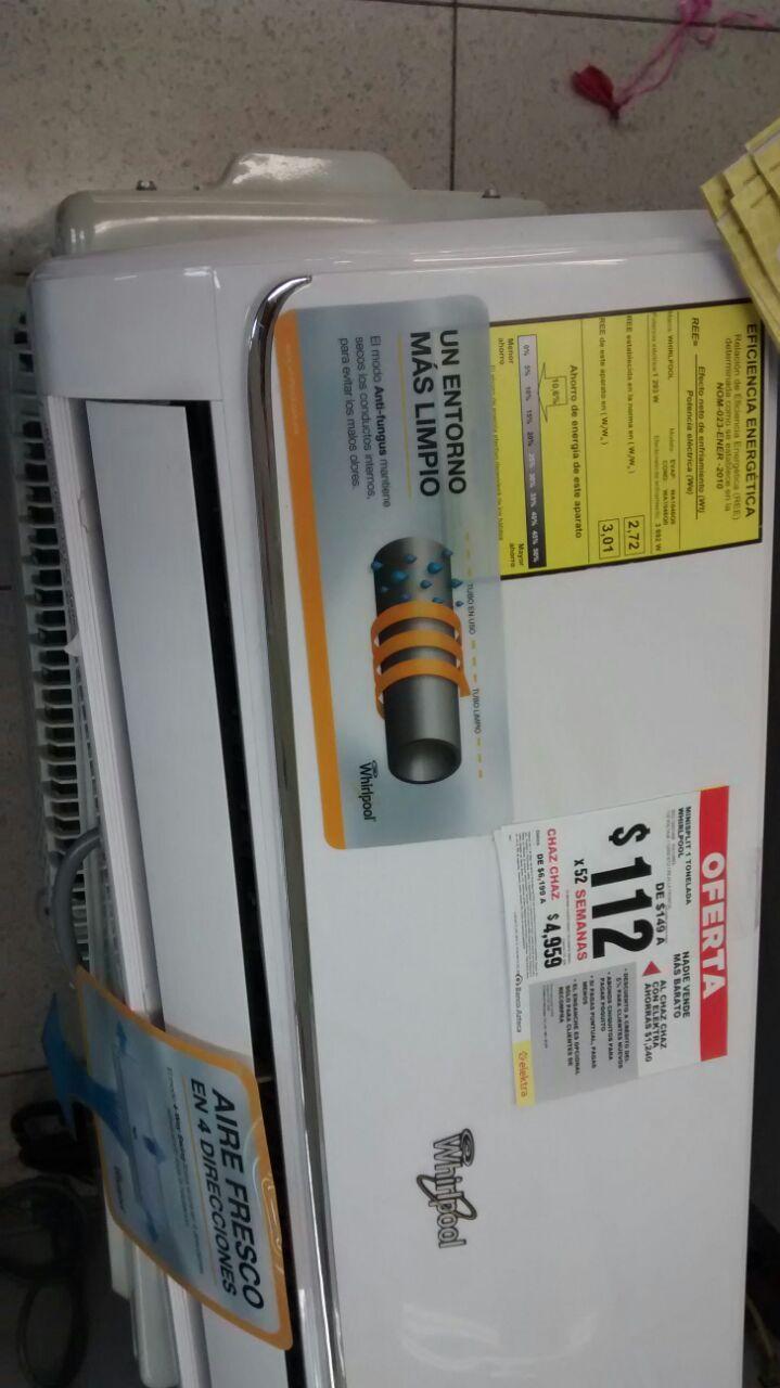 Famsa Tampico: minisplit Whirlpool modelo WA1046Q a $4,464