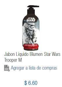 Chedraui Mina (Villahermosa): Jabón Liquido Blumen Star Wars