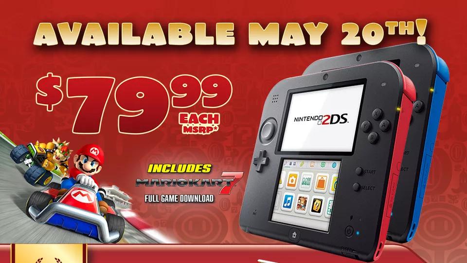 Promonoticia: Nintendo 2DS bajará de precio oficialmente el 20 de Mayo a $79.99 USD.