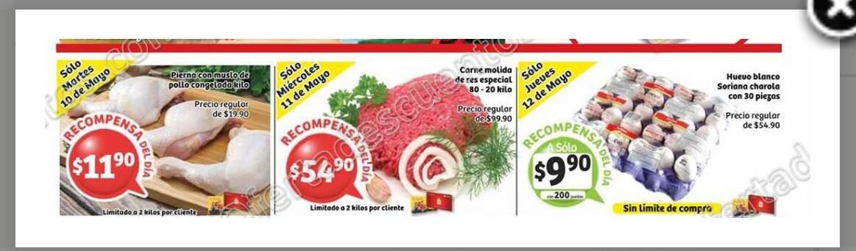 Soriana Hiper: Huevo 30 pz $9.90 con 200 ptos y más con tarjeta de lealtad