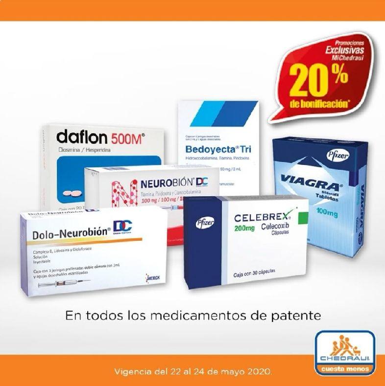 Chedraui: 20% de descuento/bonificación en todos los medicamentos de patente