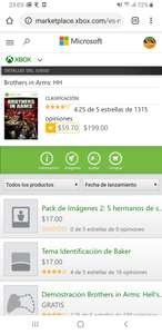 Microsoft Store: Brothers in arms, retrocompatible.