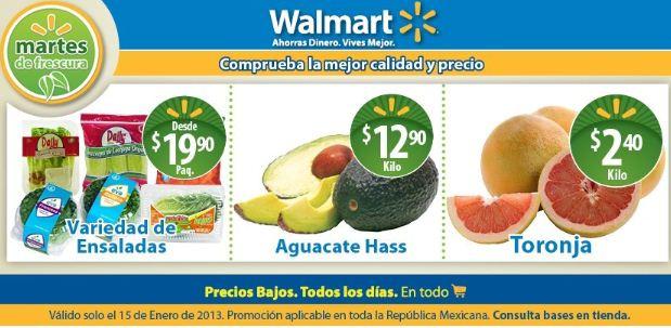 Martes de frescura en Walmart enero 15: toronrja $2.40, aguacate $12.90 y más