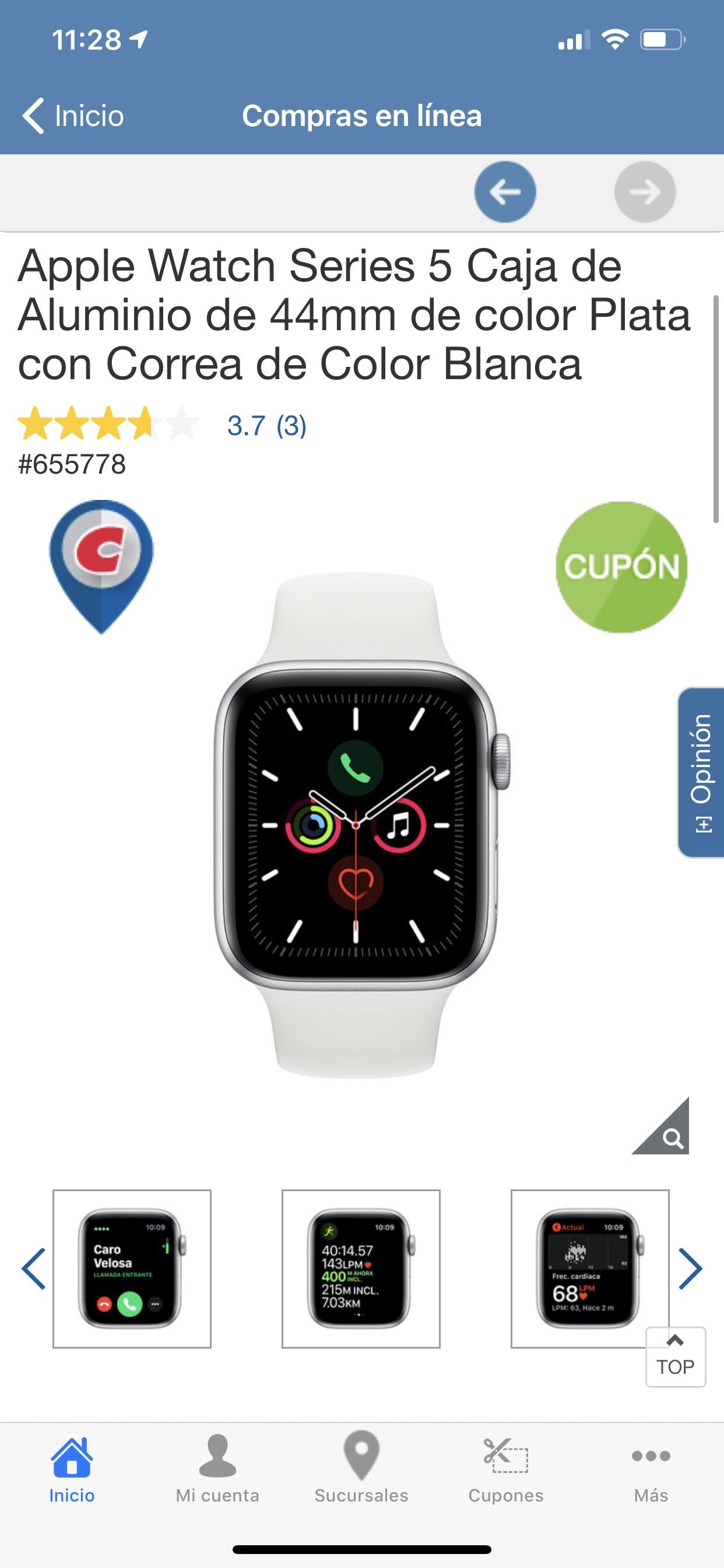 costco Apple Watch Serie 5 Caja de Aluminio 44mm
