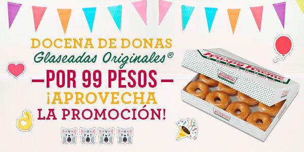 Krispy Kreme: docena de donas glaseadas originales a $99