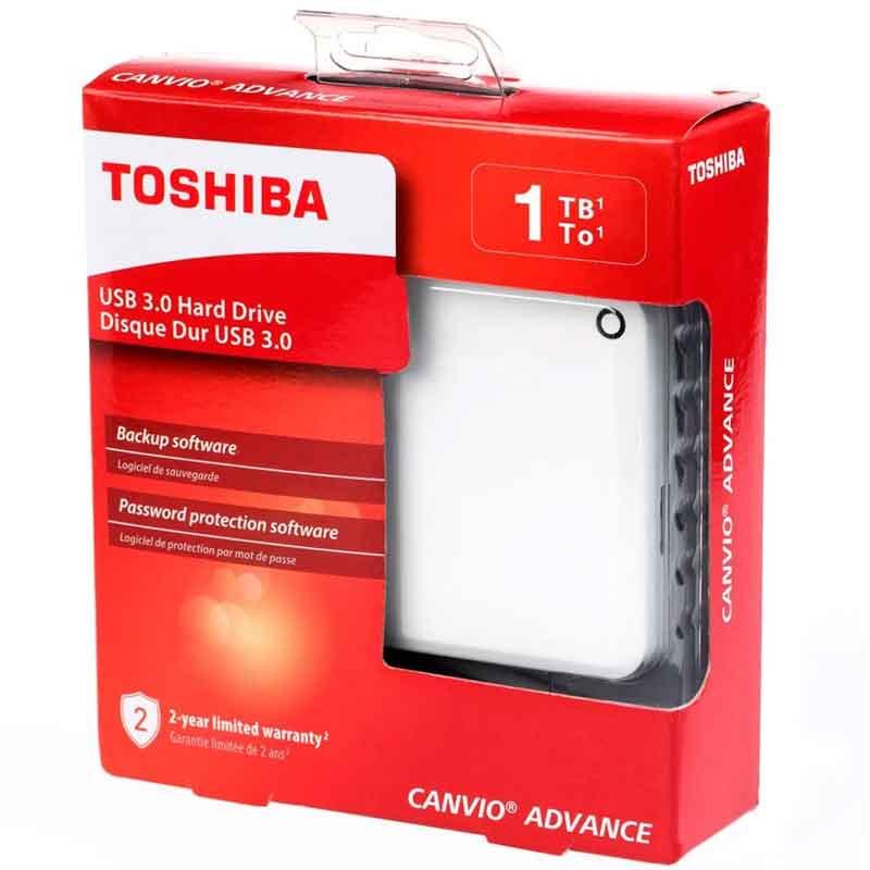 Linio: Disco Duro Externo 1TB Toshiba USB 3.0 Blanco (débito scotiabank)